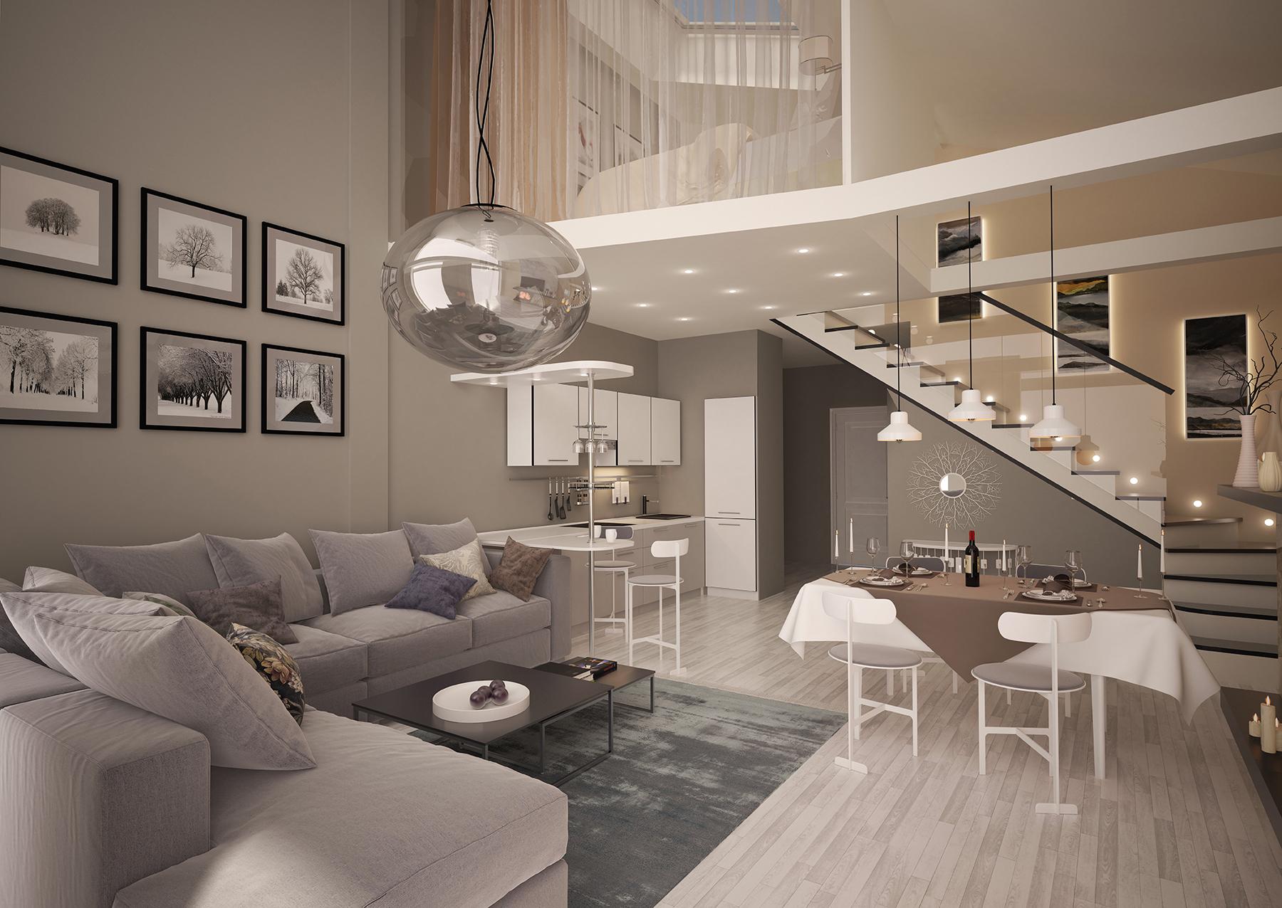 Двухэтажная квартира студия в москве фото своим