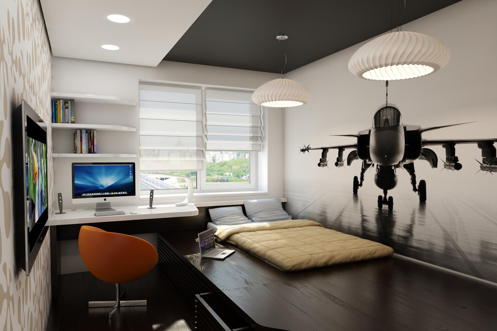 Дизайн комнаты с подиумом дизайн интерьер