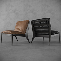 OLLLY - ArmChair Black&Brown Edition